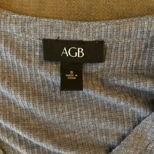AGB Tops - AGB Waffle Knit Tie Front Top